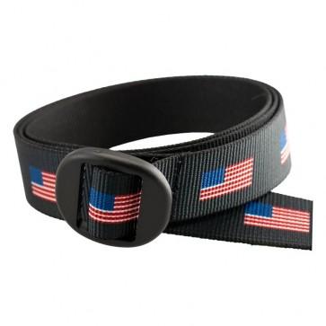 Backpacker Patterned Web Belt with Oval Slide