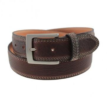 Richmond Genuine Brown Bison Leather Belt