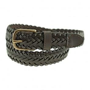 Dillon Braided Leather Boys Uniform Belt