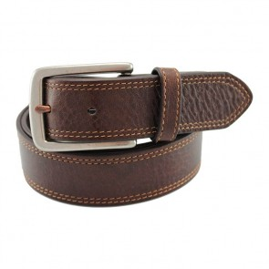 Hickory Organic Leather Dual Stitch Belt