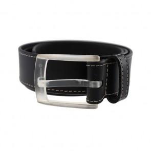 Black Highliner Quartz Leather Belt