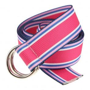 Pastel Stripe Women's Marathon D-ring Web Belt