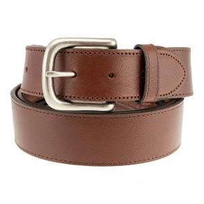 Sandpoint Brown Leather Tab Belt
