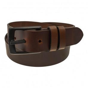 Transit Leather Metal Free 3-D Printed Buckle Belt Brown