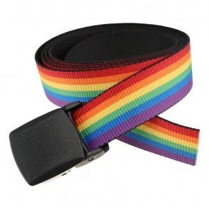 Rainbow Stripe Pride Pattern Web Belt