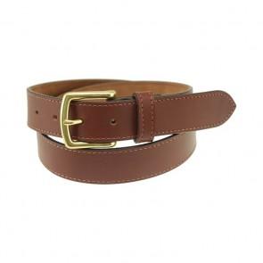 Wellesley Walnut Brown Women's Leather Belt