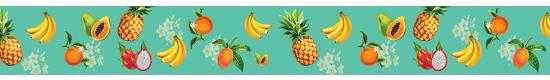 Tropical Fruit Teal #439TL - +$3.00
